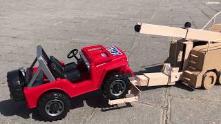 DIY Tow Truck Mercedes Actros - Falck Hadeland. Cardboard toy