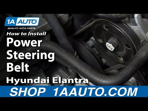 How To Install Replace Power Steering Belt 2001-06 Hyundai Elantra