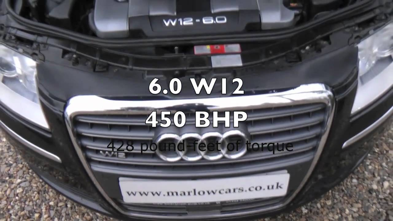 Audi A8 6 0 W12 Quattro Youtube