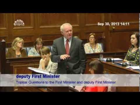 30th Sep 2013 - Topical Questions to deputy First Minister, Martin McGuinness