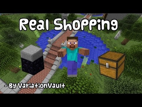 Minecraft Bukkit Plugin - Real Shopping - Create a real store with tills - Supermarket