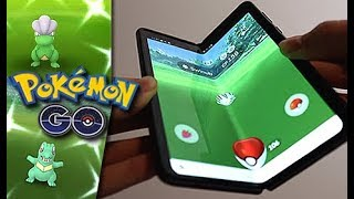Pokémon GO on Folding Phone = SO MANY SHINIES!!!!