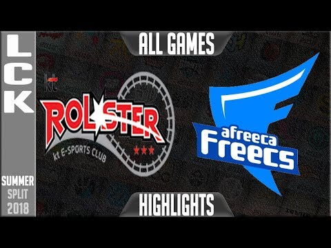 KT vs AFS HIGHLIGHTS ALL GAMES   LCK Summer 2018 Week 4 Day 5   KT Rolster vs Afreeca Freecs