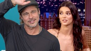 Kendall Jenner Couldn't Handle Brad Pitt's Hotness and Had to Ditch Kanye West's Sunday Service