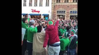 Irish Fans Sing in Copenhagen