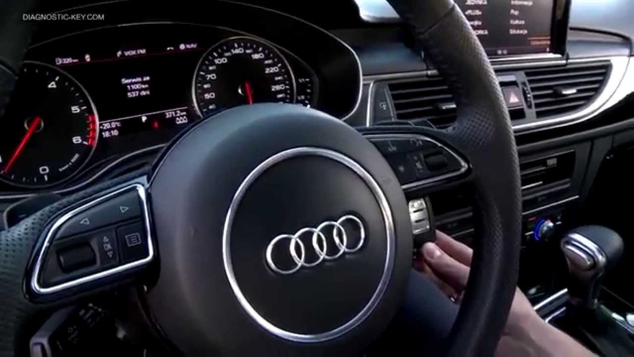 Audi Key Programming New A6 A7 Star Engine By Rf Device