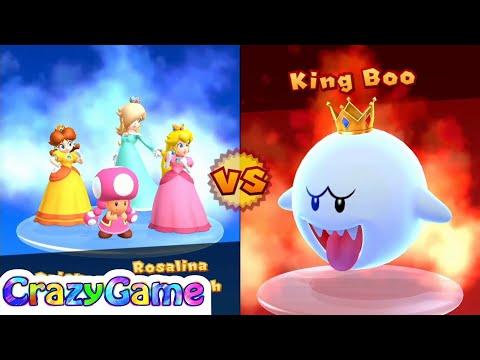 Mario Party 10 Mario Party - Peach vs Daisy vs Rosalina vs Toadette Gameplay (Mushroom Park)