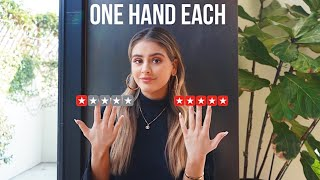 I WENT TO THE WORST AND BEST RATED NAIL SALONS IN MY CITY (one hand each)