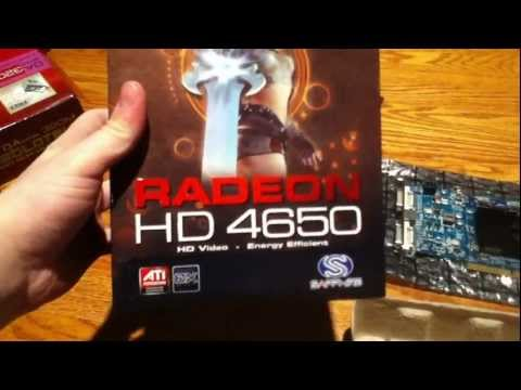 Unboxing Of Sapphire Radeon HD 4650 AGP 8x Graphics Card