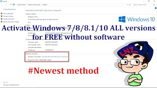 Activate Windows 10/8.1/8/7 ALL versions for FREE without any software - Newest method ✔