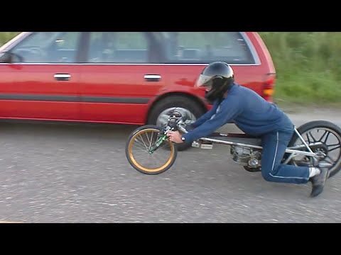 Little Gizmo in 4 sec to 100 km/h Ftt Kreidler engine, made by Luc Foekema