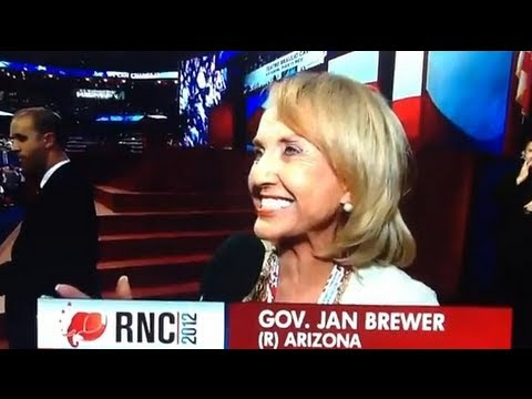 Jan Brewer Endorses President Obama at RNC?!