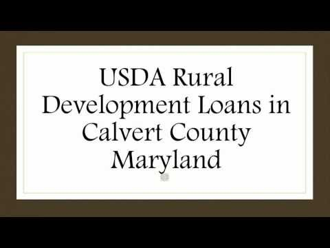 Calvert County MD USDA Rural Development Loans