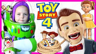 Toy Story 4 Benson and Gabby Gabby Took My Toy Story 4 Toys | Buzz Lightyear Armor and Jet Pack!