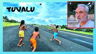TUVALU, airport runway becomes the community center for the country