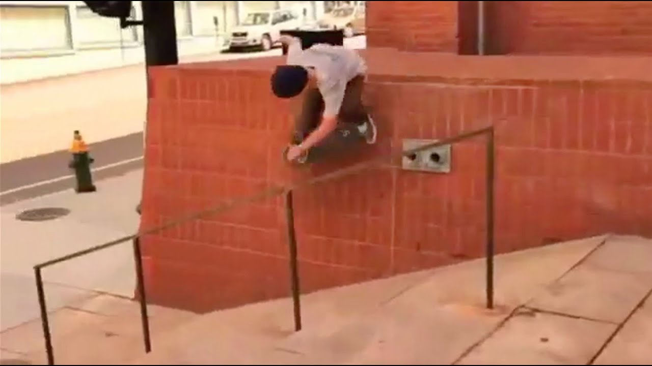 Gnarly Wallride Over Wall Drain!!- Behind The Clips - Billy Drowne
