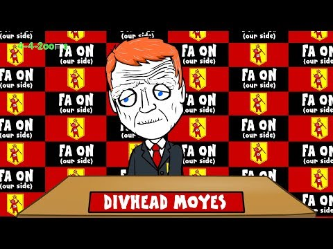 👹MOYES SACKED by Man Utd👹 ('Moyes Way' Song funny football cartoon My Way parody)