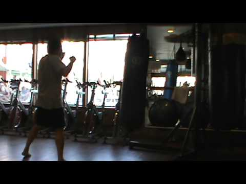 Choy Lay Fut Kung Fu-- Heavy Bag training 3 Image 1