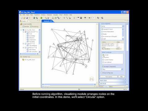 Social Network Analysis Software -  NetMiner : 3.1 Drawing Network Map