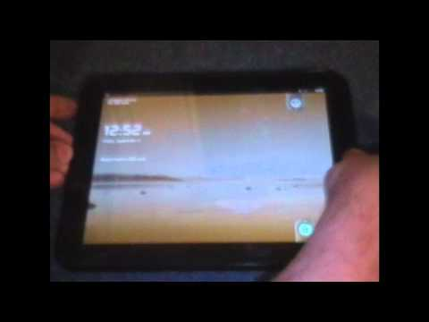 HP Touchpad dual-booting Android 2.3.5 and webos