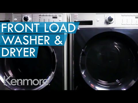 Innovative Front Load Steam Washer and Dryer