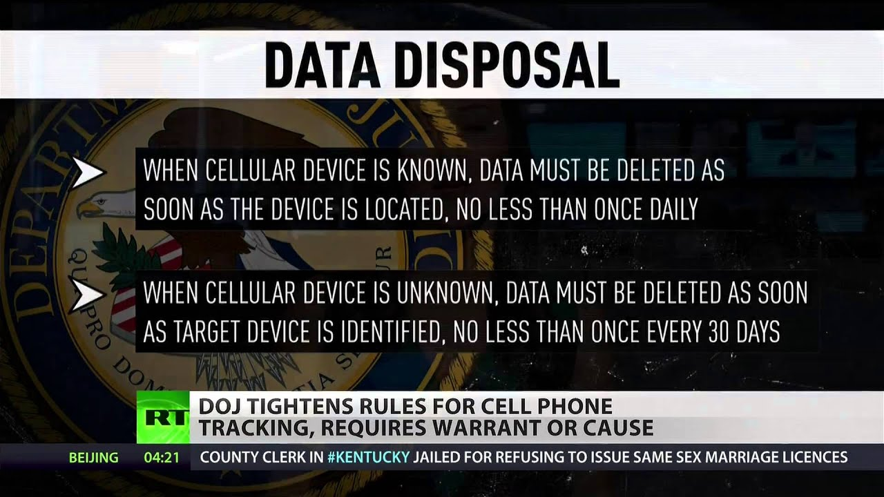 Justice Department now requires warrants for cellphone tracking