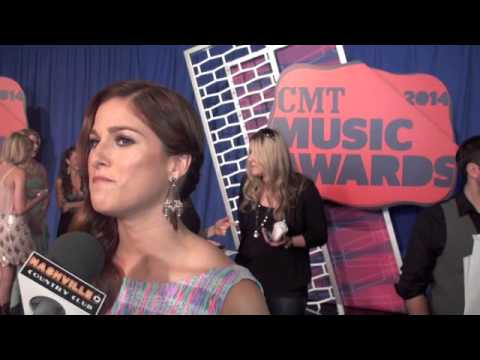 Cassadee Pope & Josh Thompson at CMT Awards Red Carpet