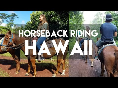 HORSE BACK RIDING IN THE JUNGLE // THE BIG ISLAND, HAWAII // MY TRAVEL TOUR GUIDE