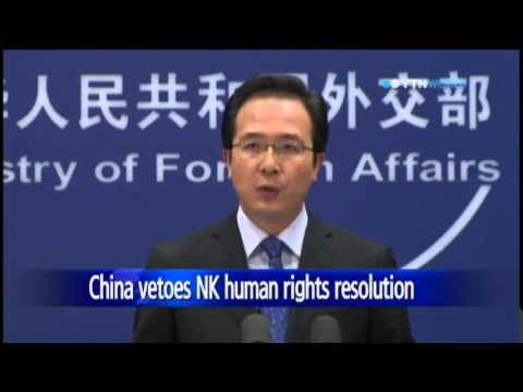 China vetoes U.N. resolution on North Korea's human rights / YTN