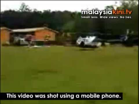 A helicopter belonging to the flying doctor service in Sarawak had a rough landing in a school field in an interior village due to engine failure last month, claimed several villagers. However...