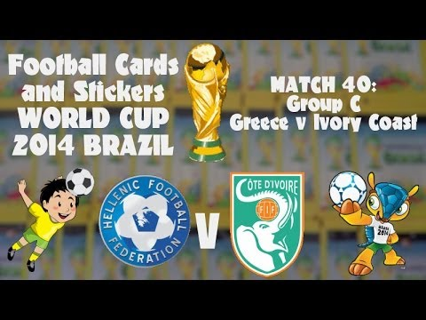 FOOTBALL CARDS & STICKERS WORLD CUP 2014 ☆ MATCH40 GREECE v IVORY COAST ☆ panini adrenalyn xl packs