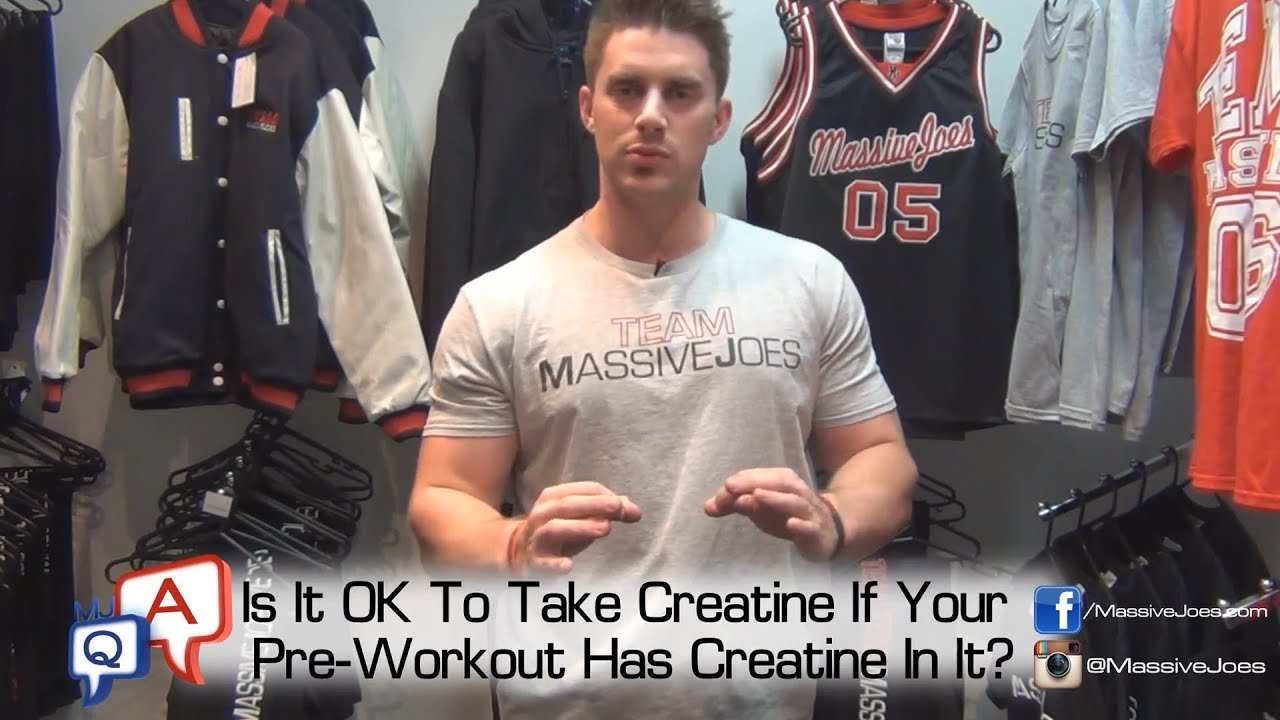 Can you take pre workout and creatine together