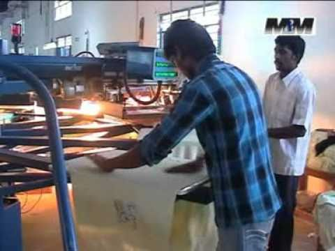 T shirt print machine m m industries india youtube for Machine for printing on t shirts
