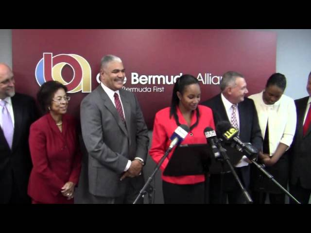OBA Announce Candidates Nandi Davis and Scott Stewart Bermuda March 8 2012