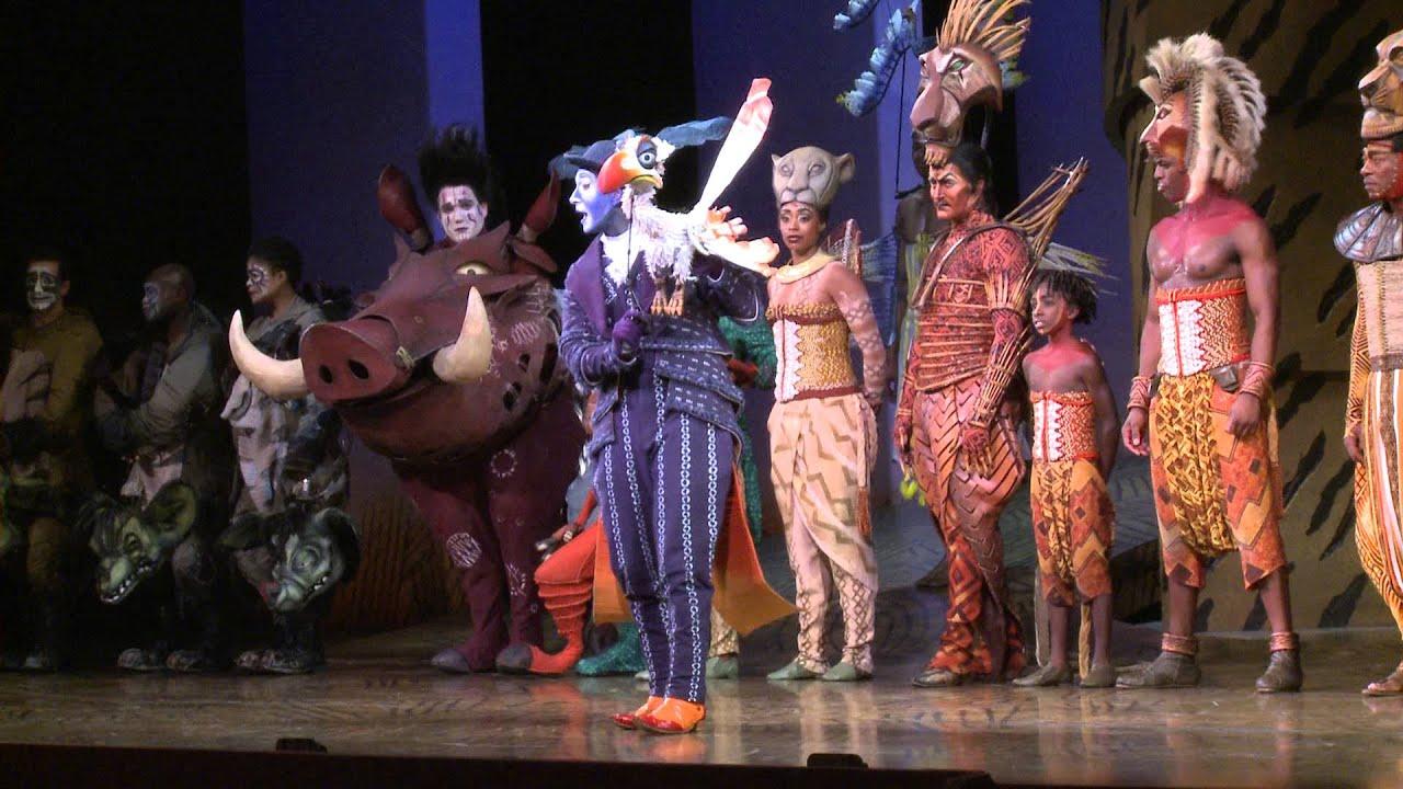 The Lion King Curtain Speech - by Jeff Binder - YouTube Lion King Broadway Zazu