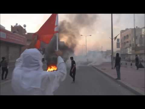 Bahrain The First Day Of 2016 in Sitra Island Villages Armoured vehicles Attack People