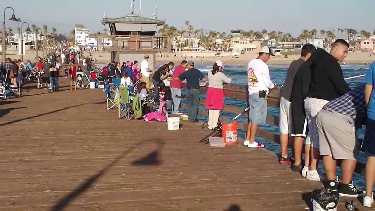 Imperial beach pier fishing san diego ca 2 youtube for Fishing license san diego