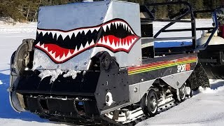 Track Shark - Homemade Motorized Tracked Fishing Sled