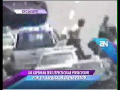 Capturan a delincuentes en espectacular persecución del serenazgo en el distrito de San Borja