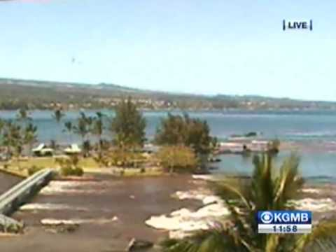 Hawai Tsunami 2010 after Chile earthquake 8.8