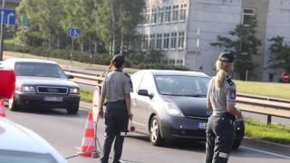 Šeštadienio rytą Lietuvos kelių policijos pareigūnai tikrino vairuotojų blaivumą