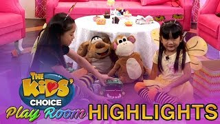 The Kids' Choice PH Play Room: Kaycee and Rachel play with alligator toy