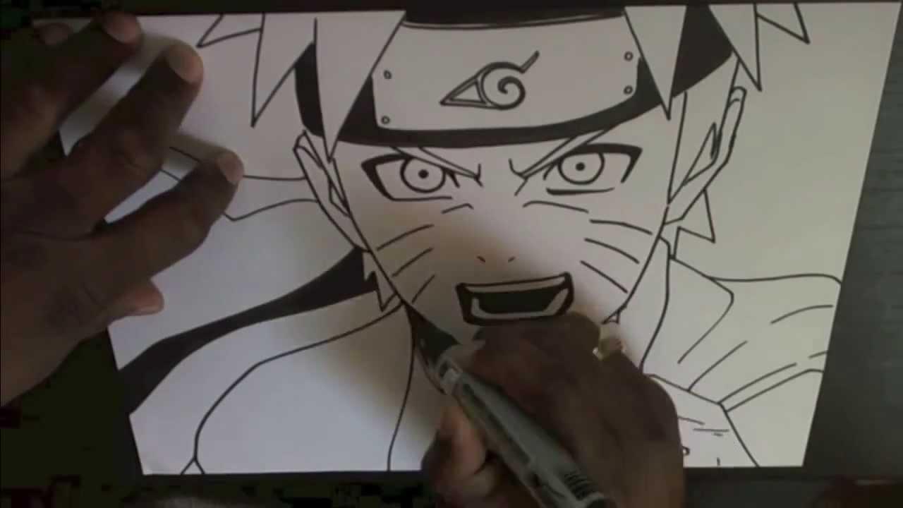 как рисовать наруто карандашом поэтапно:
