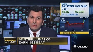 AK Steel jumps on earnings beat