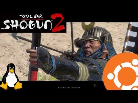 Total War: SHOGUN 2 Gameplay on Ubuntu 12.10 Linux [CrossOver]