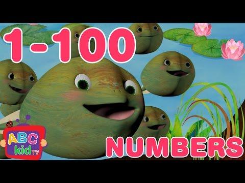Numbers Song 1-100   Nursery Rhymes & Kids Songs - ABCkidTV