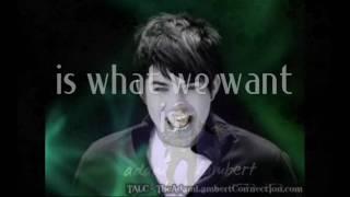 Watch Adam Lambert Want video