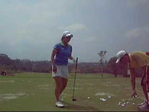 Ai Miyazato on Driving range Honda Ptt LPGA Thailand 2010.wmv Video