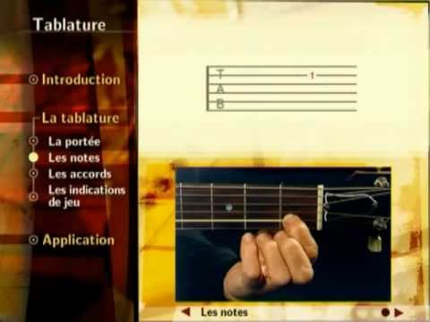 La tablature - Guitar Hits (méthode de guitare sur DVD)