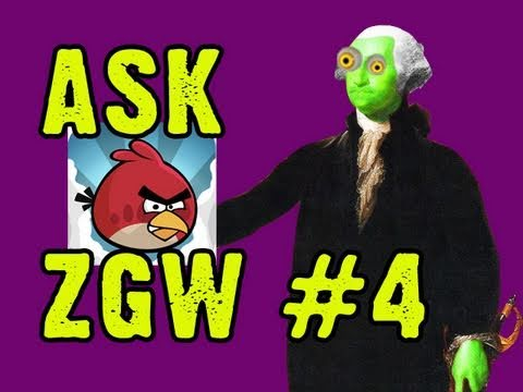 Ask Zombie George Washington #4: Angry Birds Lover!!!